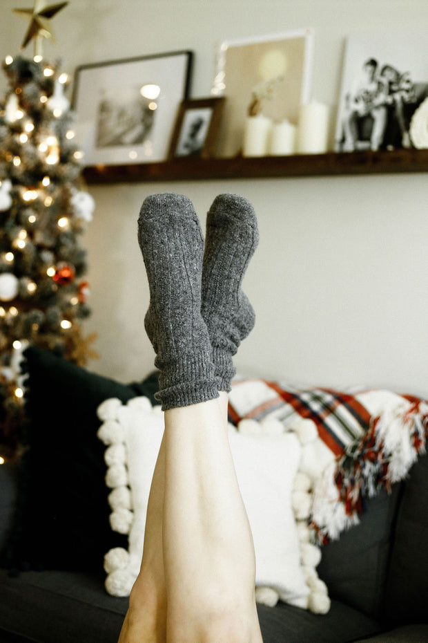 Cozy Wool Socks - Welles and Company