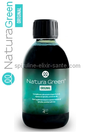 1 flacon de 250ml de Spiruline Natura Green® Original