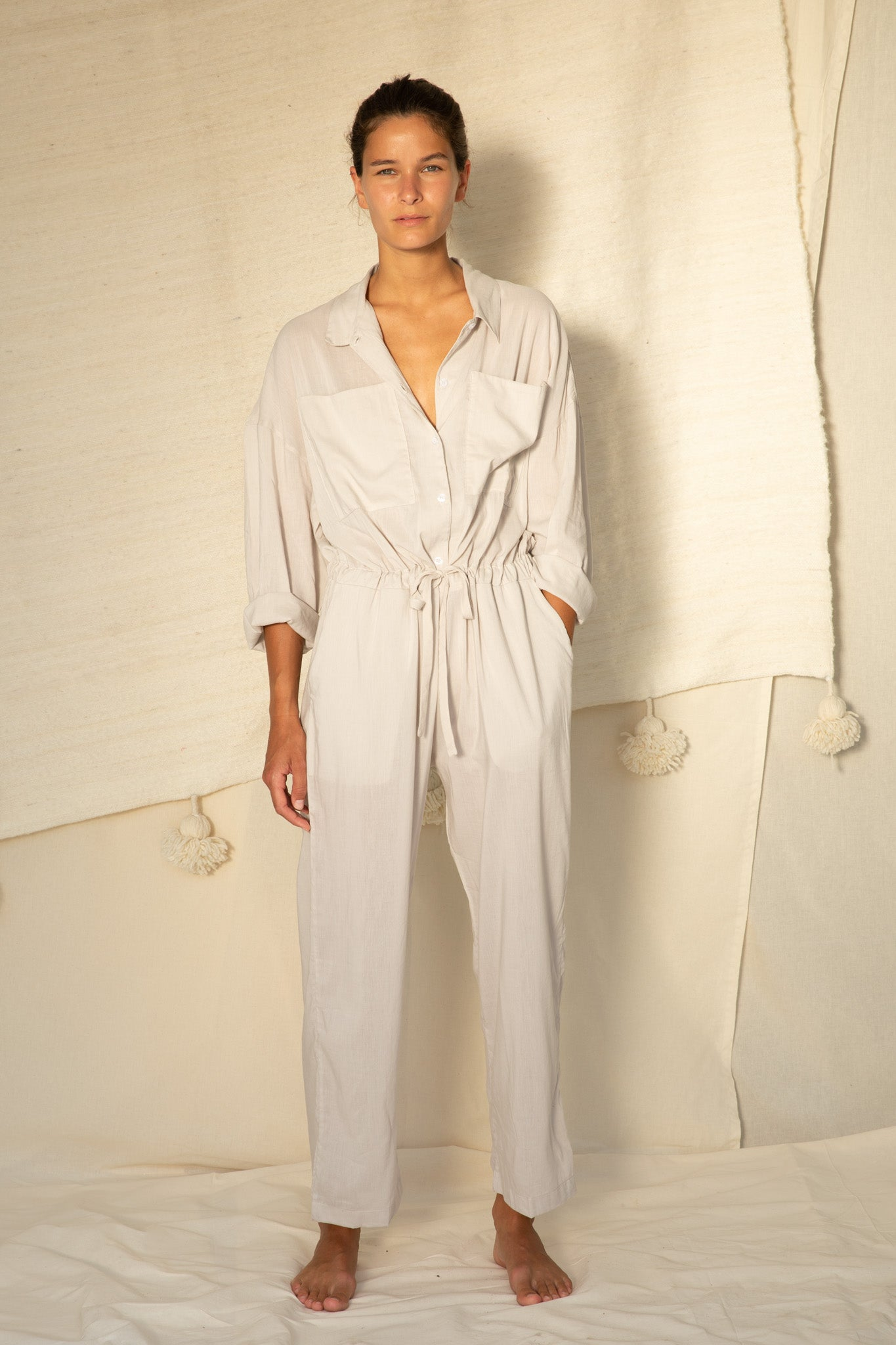 Emily Jumpsuit in Stone