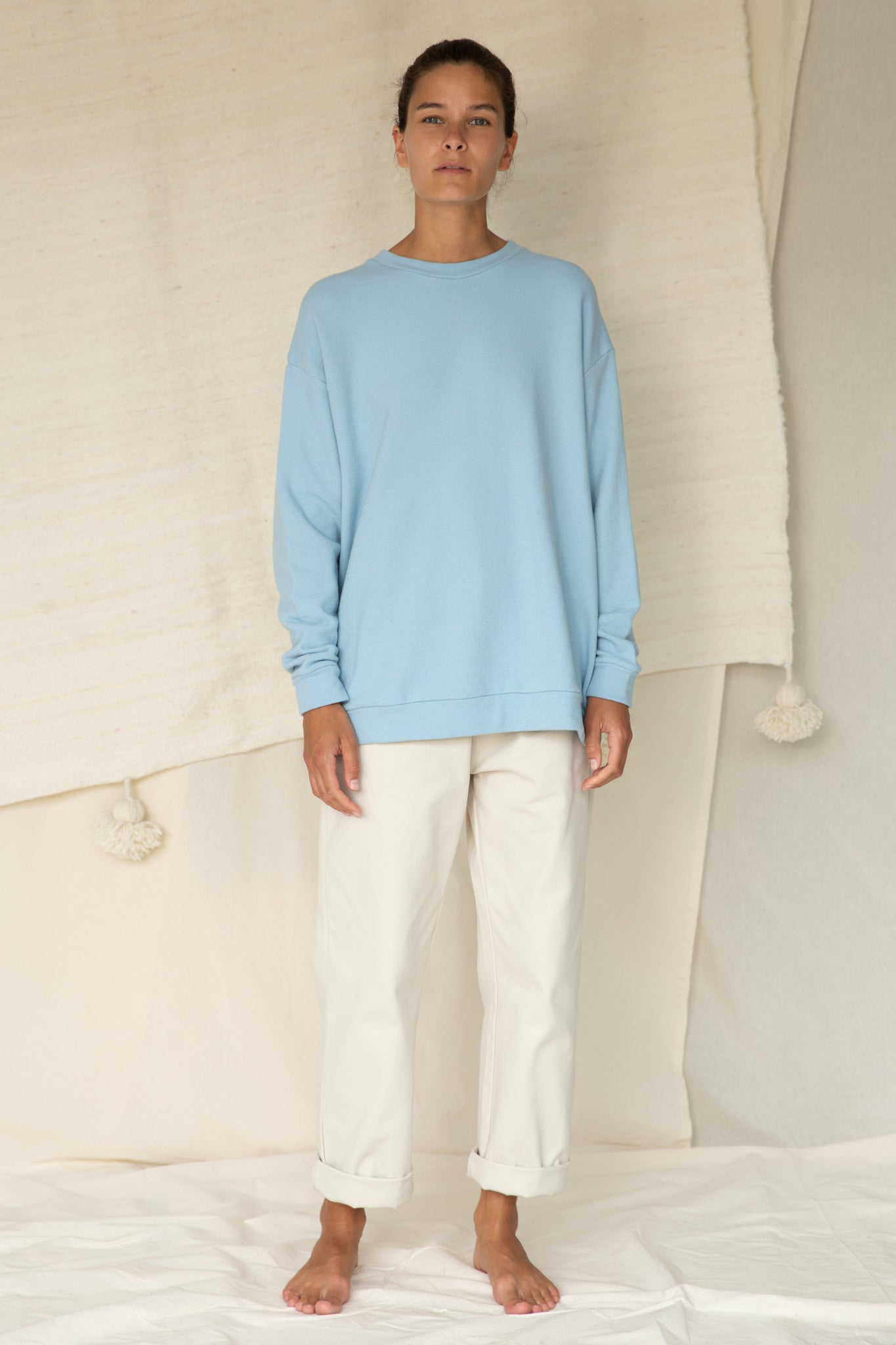 Classic Sweatshirt in Forget me not