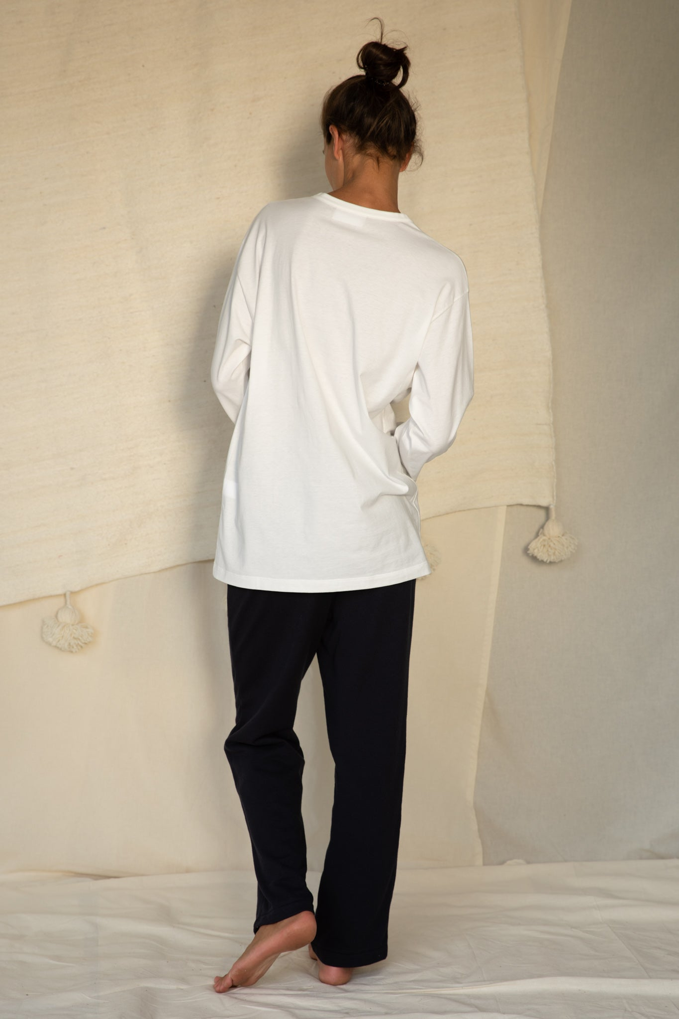 Unisex T-Shirt L/S in White
