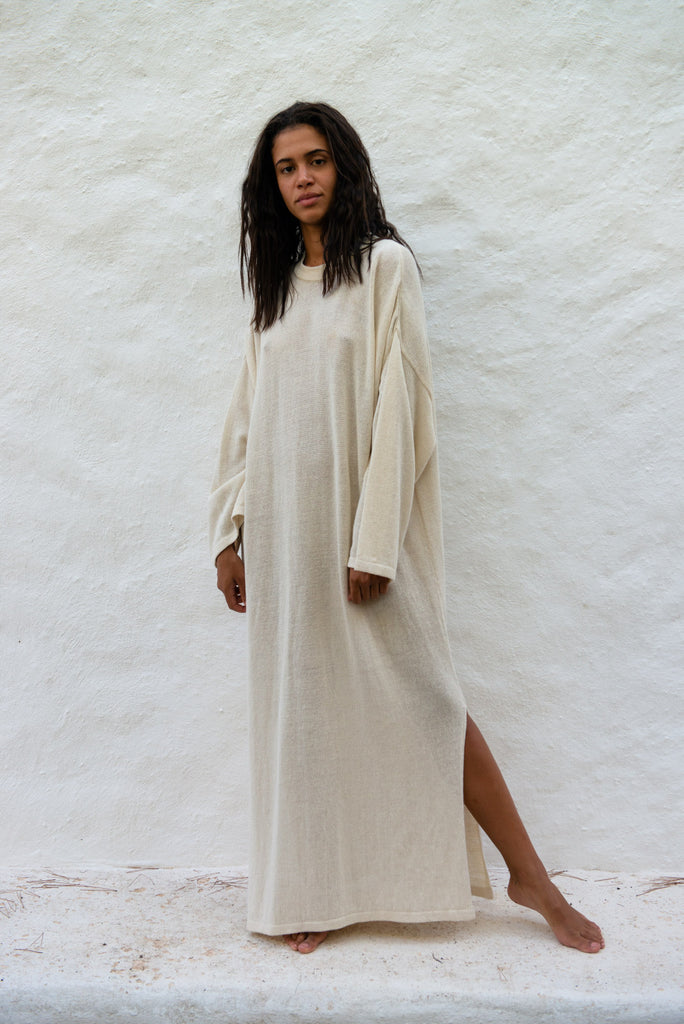 Recycled Linen T-shirt Dress