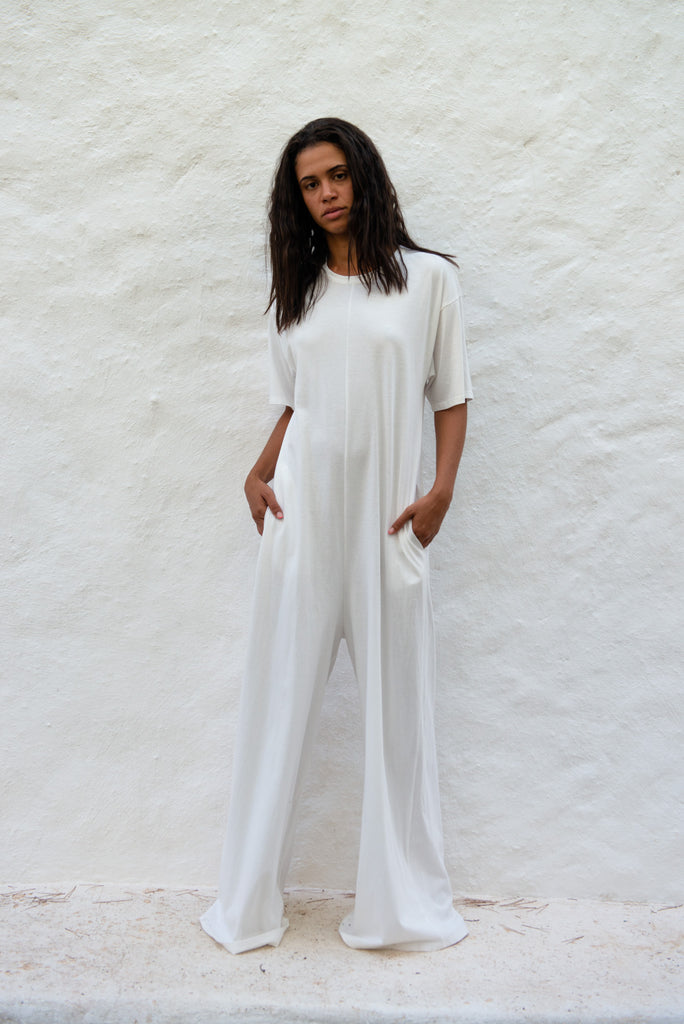 Cotton Relaxed Long Jumpsuit