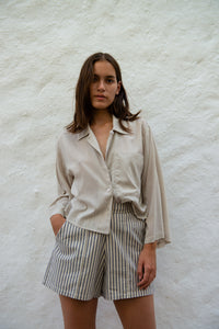 Cropped Cotton Modal Shirt