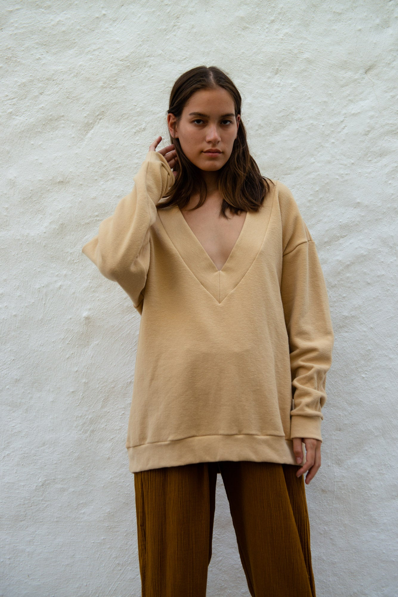 Japanese Cotton V-Neck Sweater