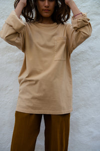 Cotton Unisex T-Shirt L/S Pocket