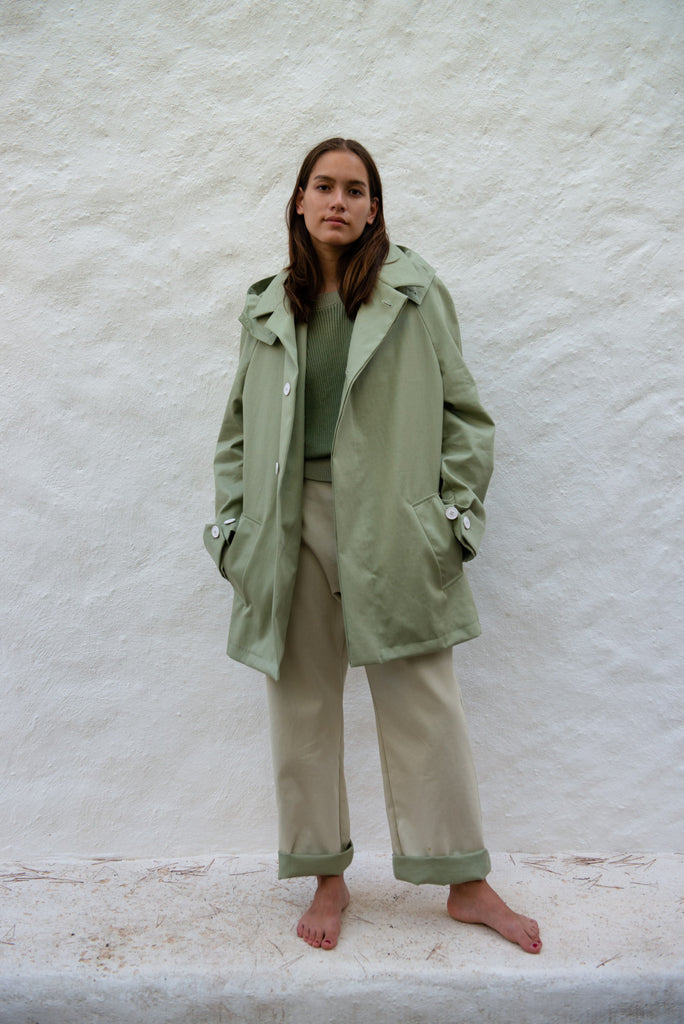 Short Waterrepellent Trench Coat
