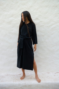 Cotton Silk Loose Dress