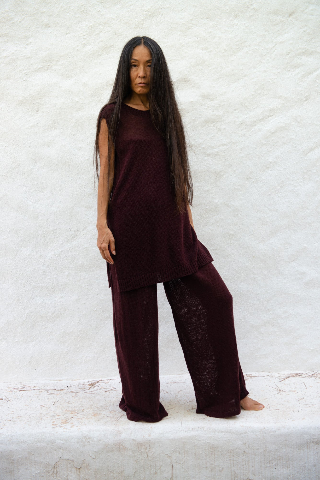 Recycled Linen Wide Pants