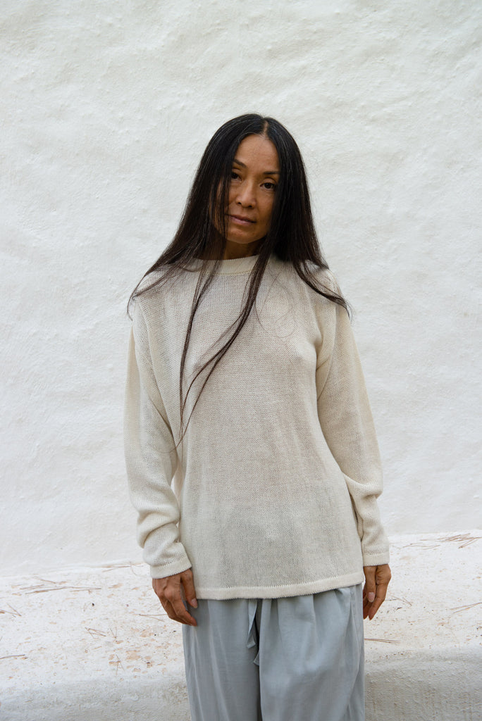 Recycled Linen Relax T-Shirt L/S
