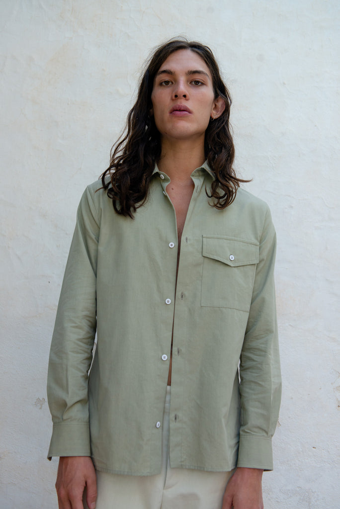 Fitted Unisex Cotton Tencel Shirt