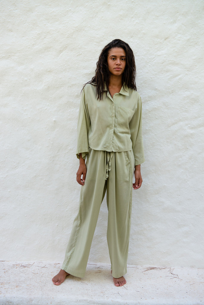 Cotton Modal Shirt & Pants Set