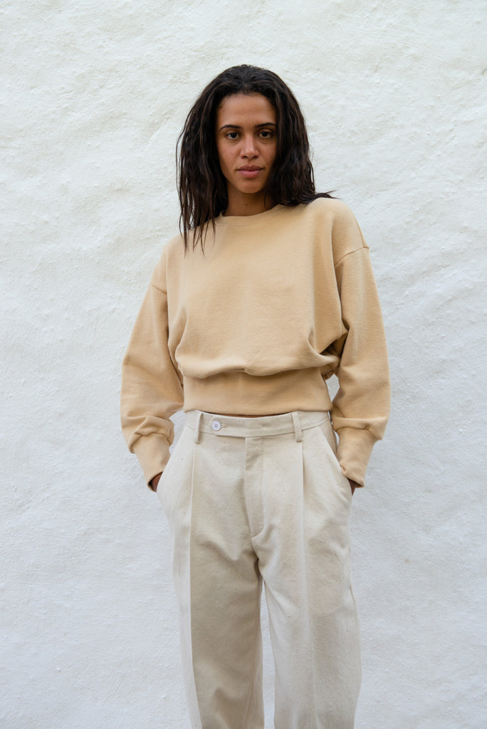 Japanese Cotton Cropped Sweater
