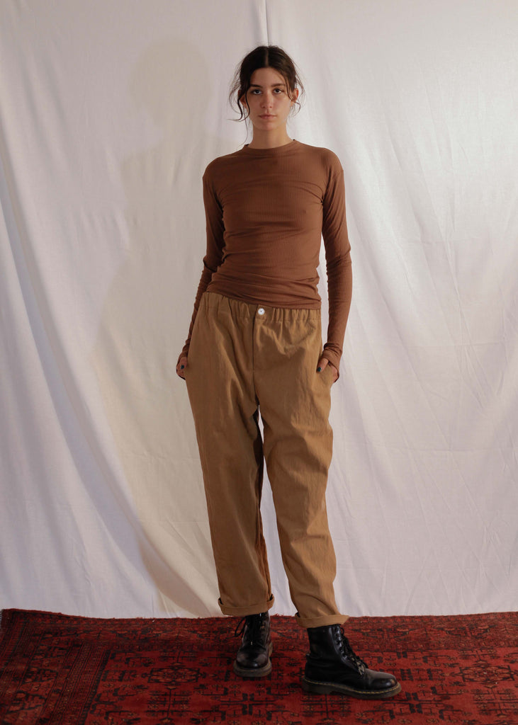 Skinny Sweater Long-Sleeve in Brown