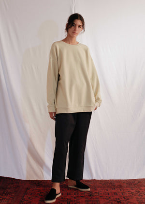 Classic Sweatshirt in Cotton Elastane
