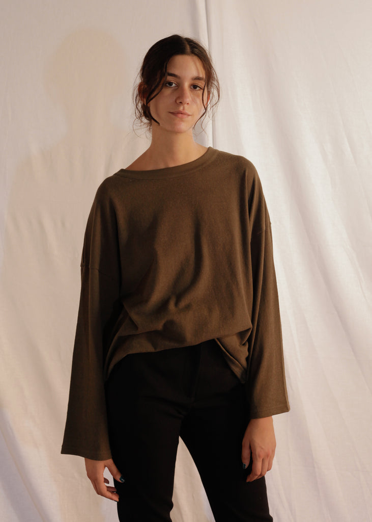 Loose T-Shirt L/S Dema in Cotton