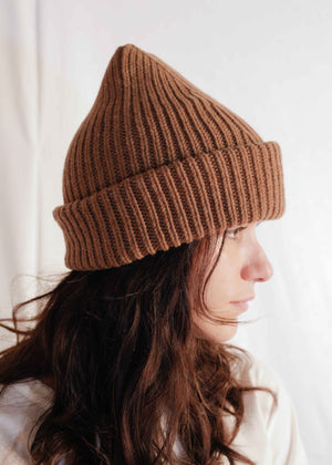 Chunky Knit Beanie in Virgin Wool