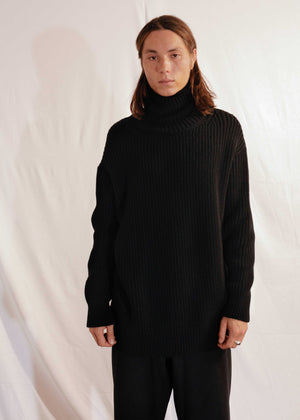 Chunky Turtleneck in Black