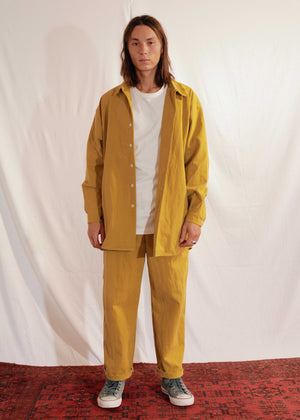 Waxy Cotton Shirt Mateo in Mustard