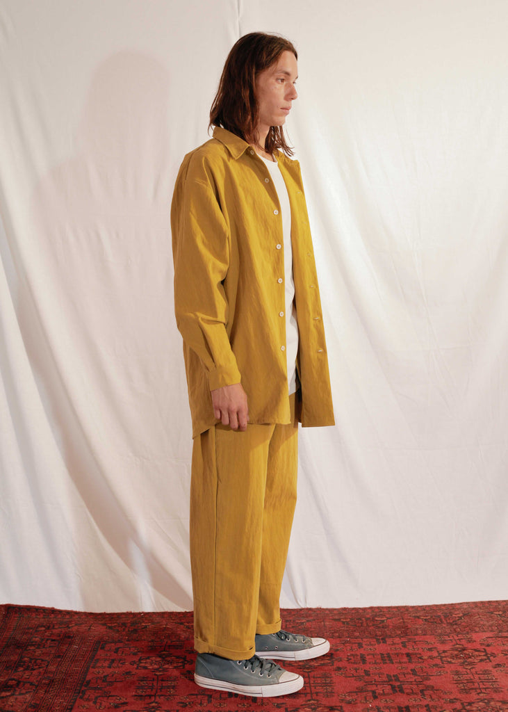 Unisex Waxy Set in Mustard