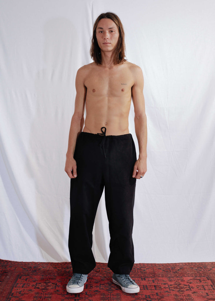 Oversized Cotton Pants in Black