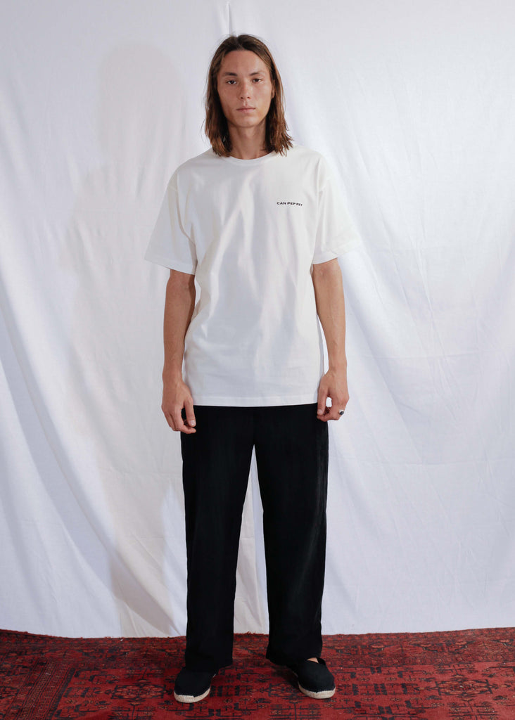 Unisex Logo T-Shirt in Off White