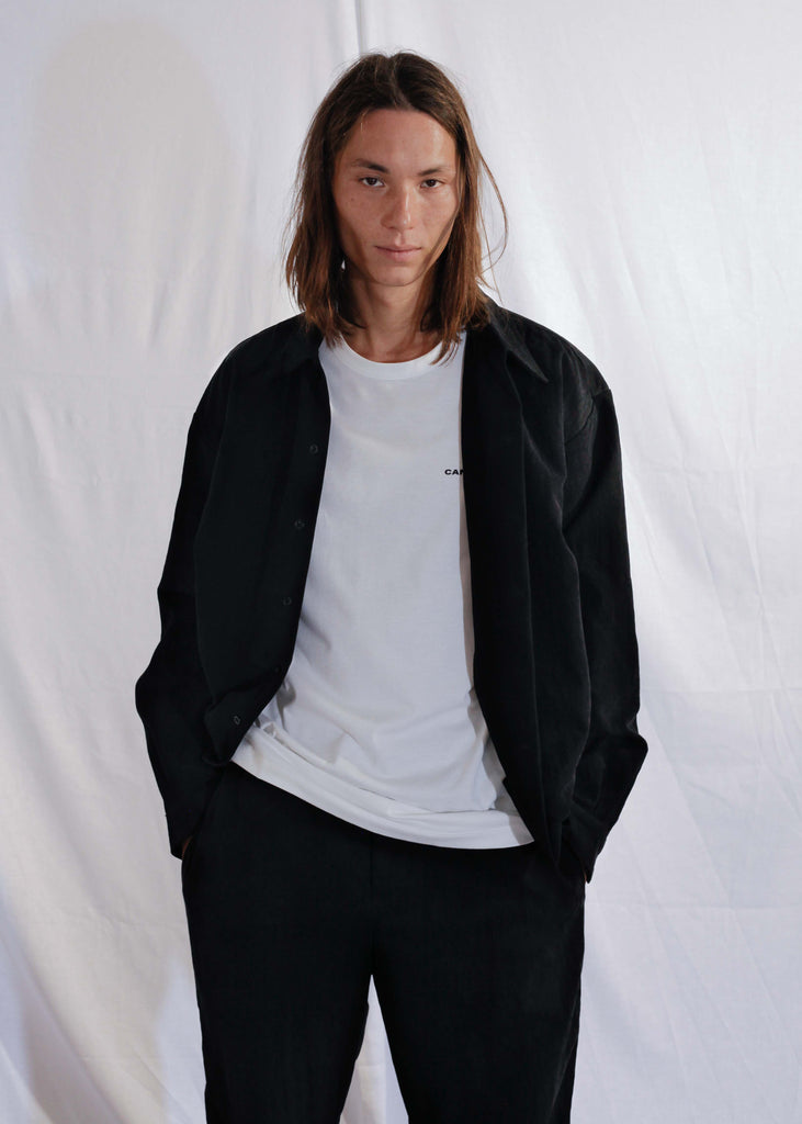 Waxy Cotton Shirt Mateo in Black