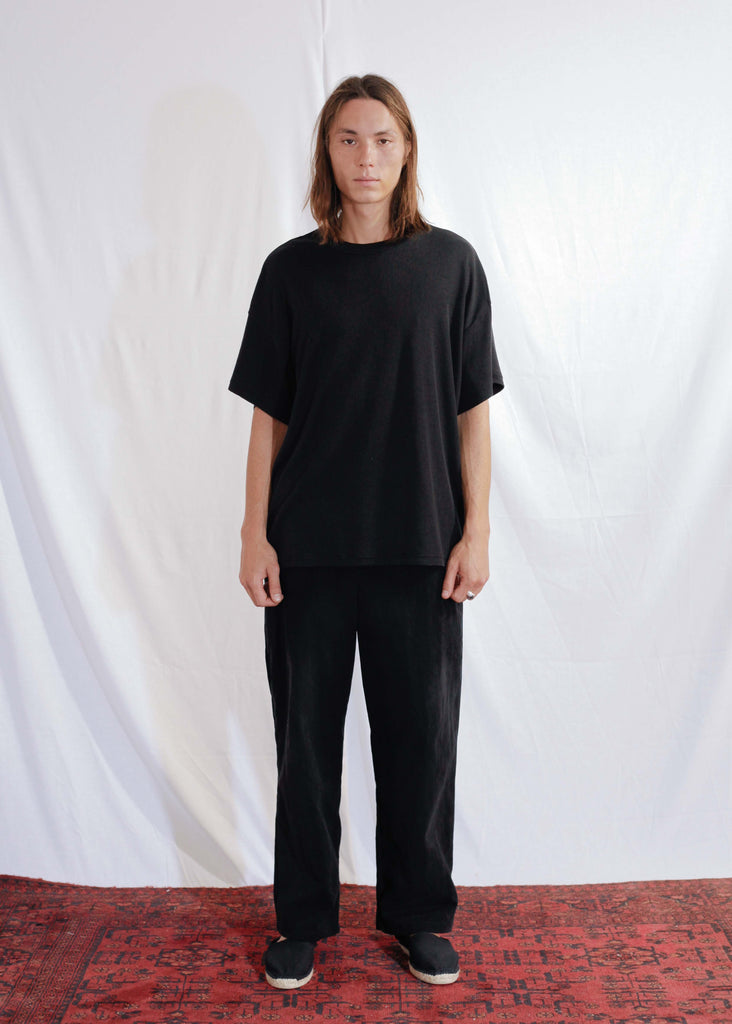 Cotton Silk T-Shirt in Black