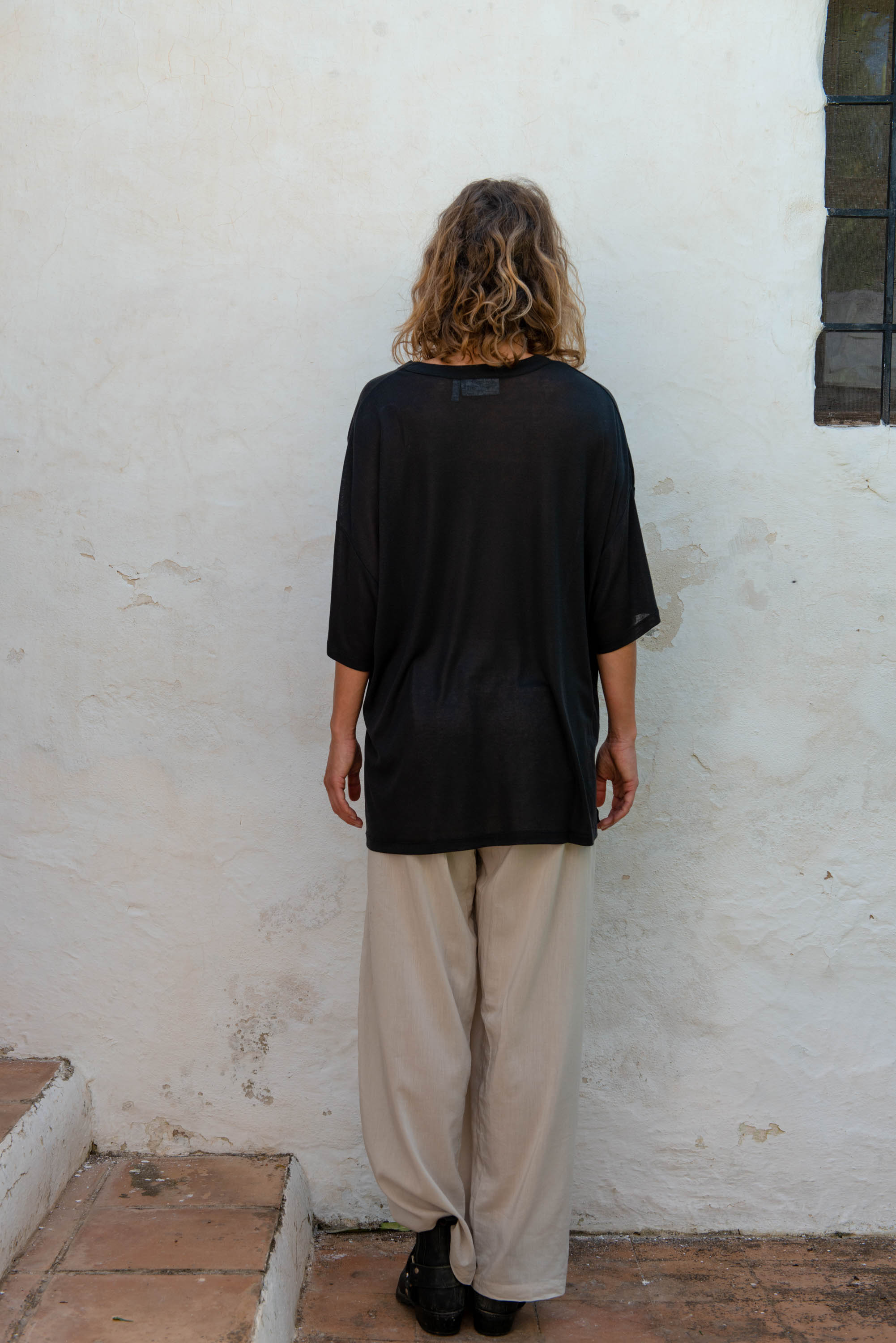 Oversized T-Shirt S/S in Black