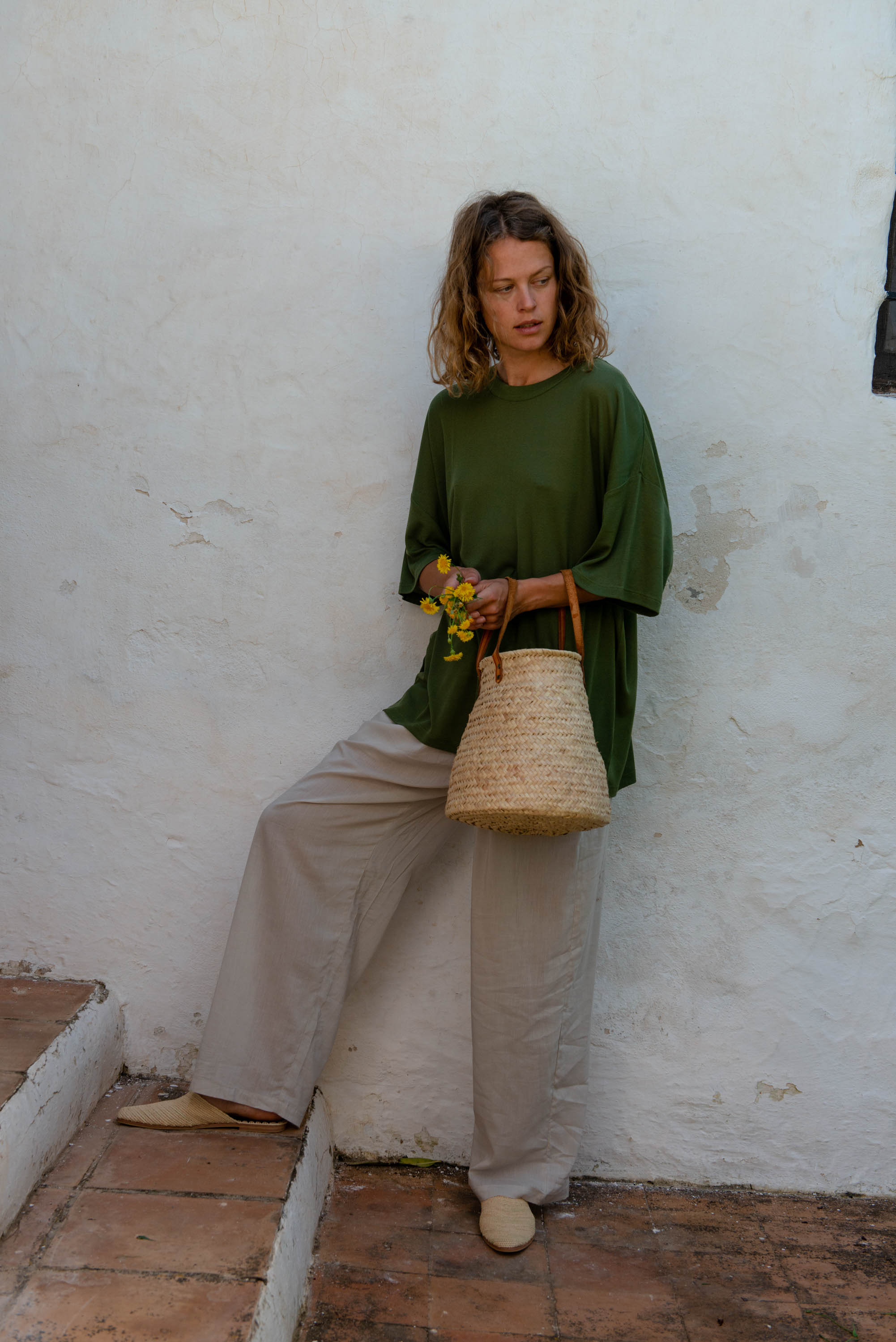 Oversized T-Shirt S/S in Olivine