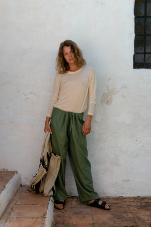Loose Pants in Olivine