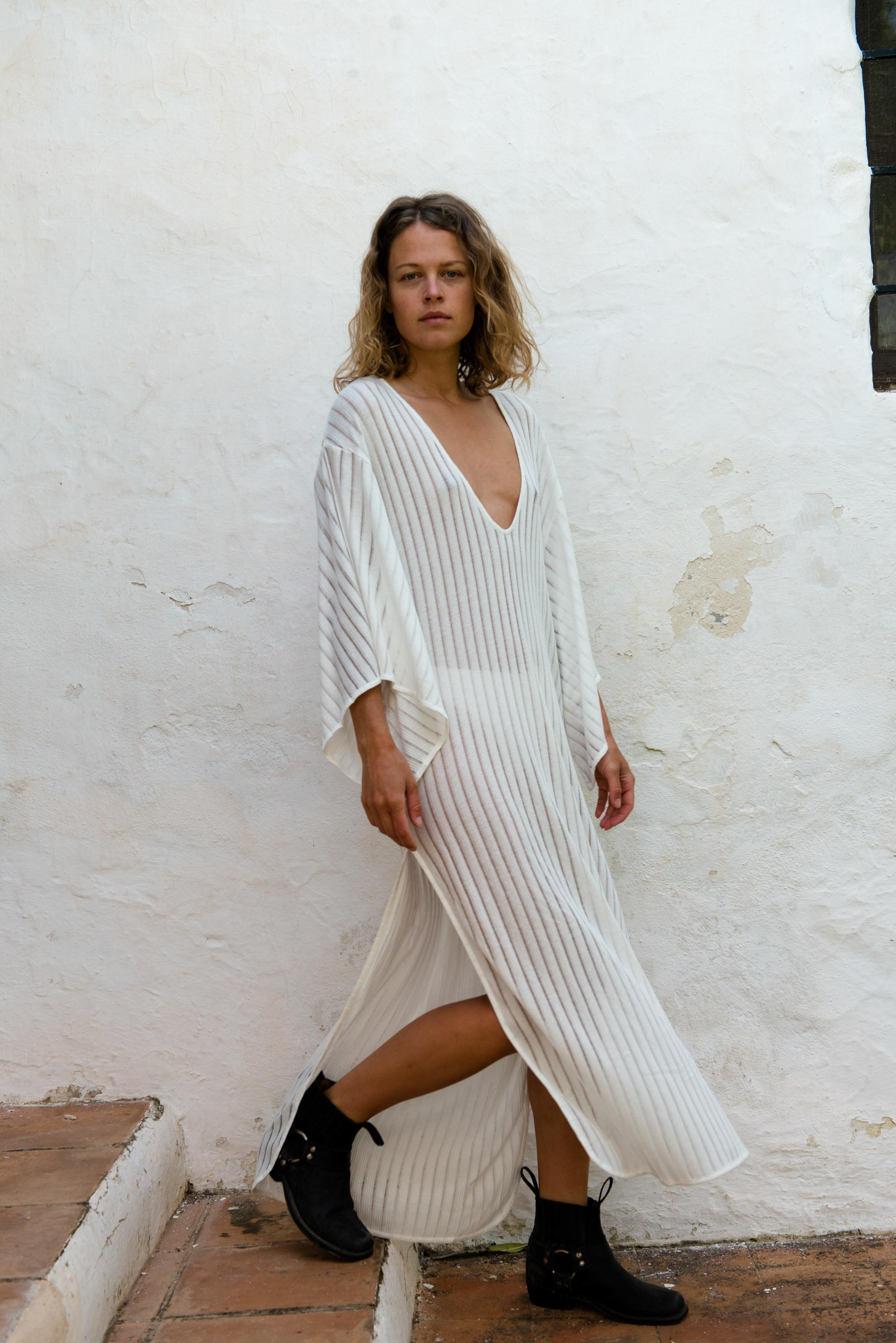 Kaftan Dress in Off White