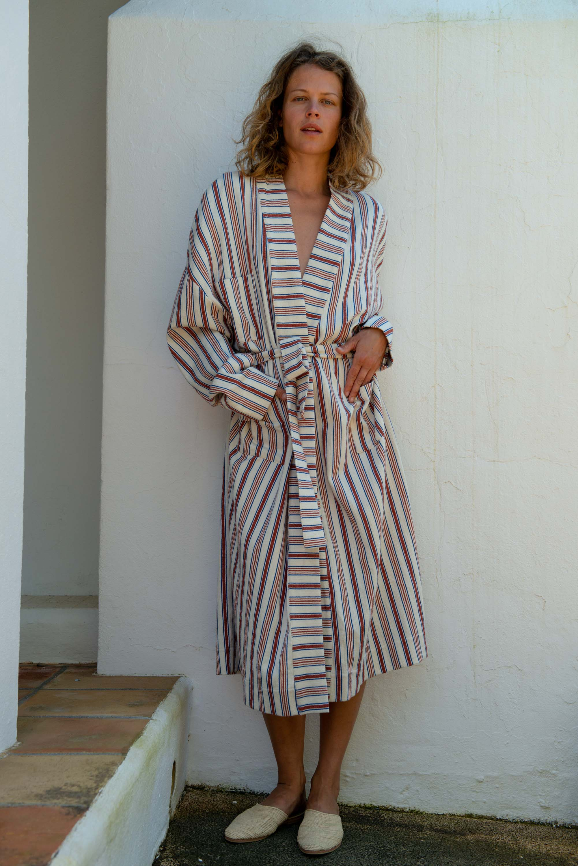Beach Kimono in Striped