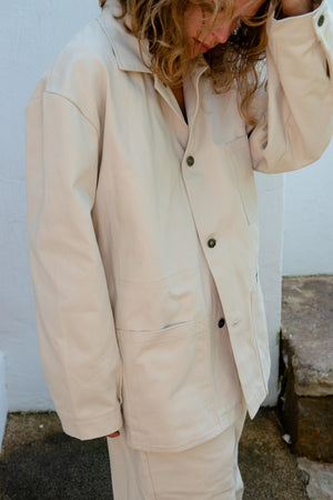Miners Jacket in Cream