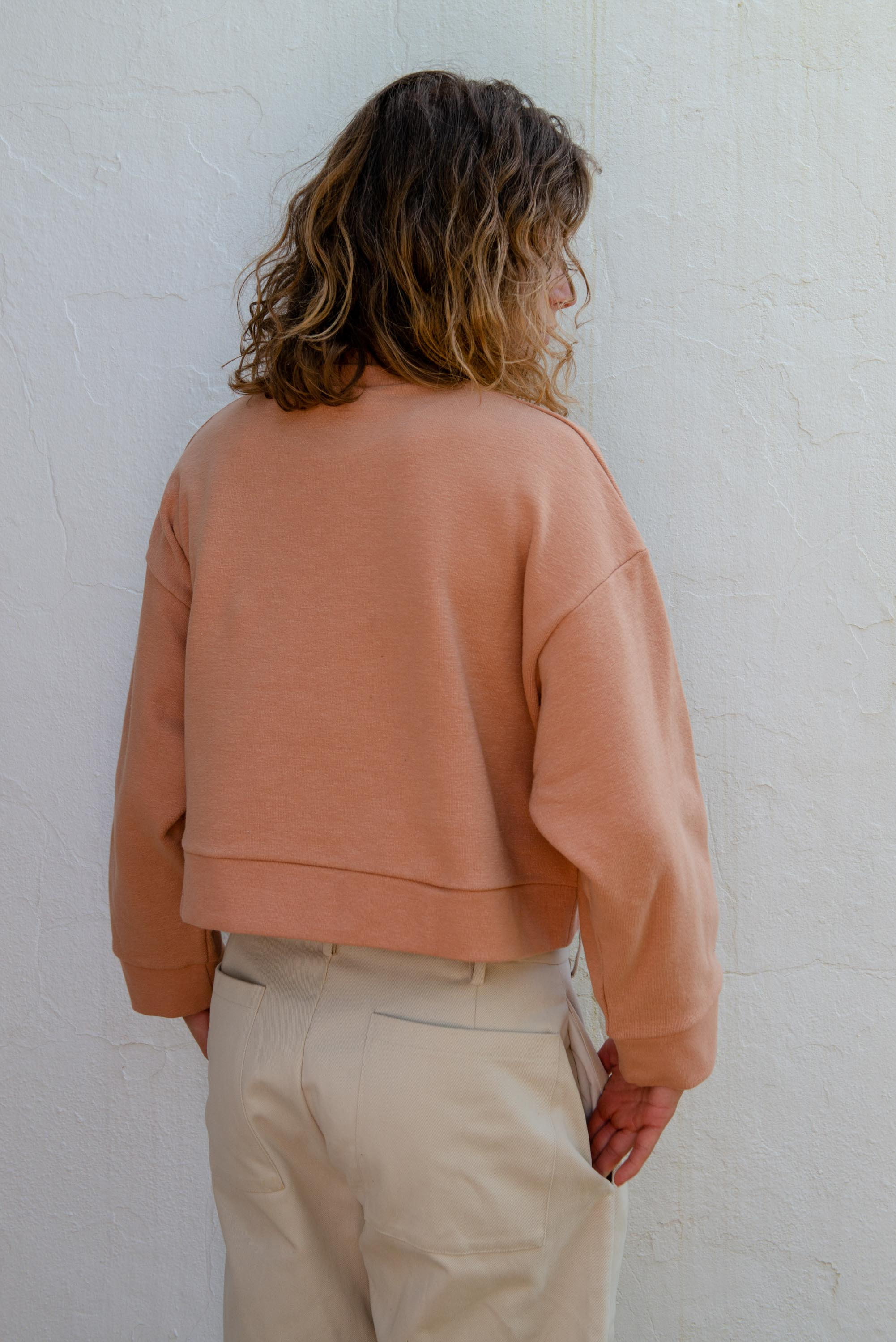 Cropped Sweater in Toasted Nut