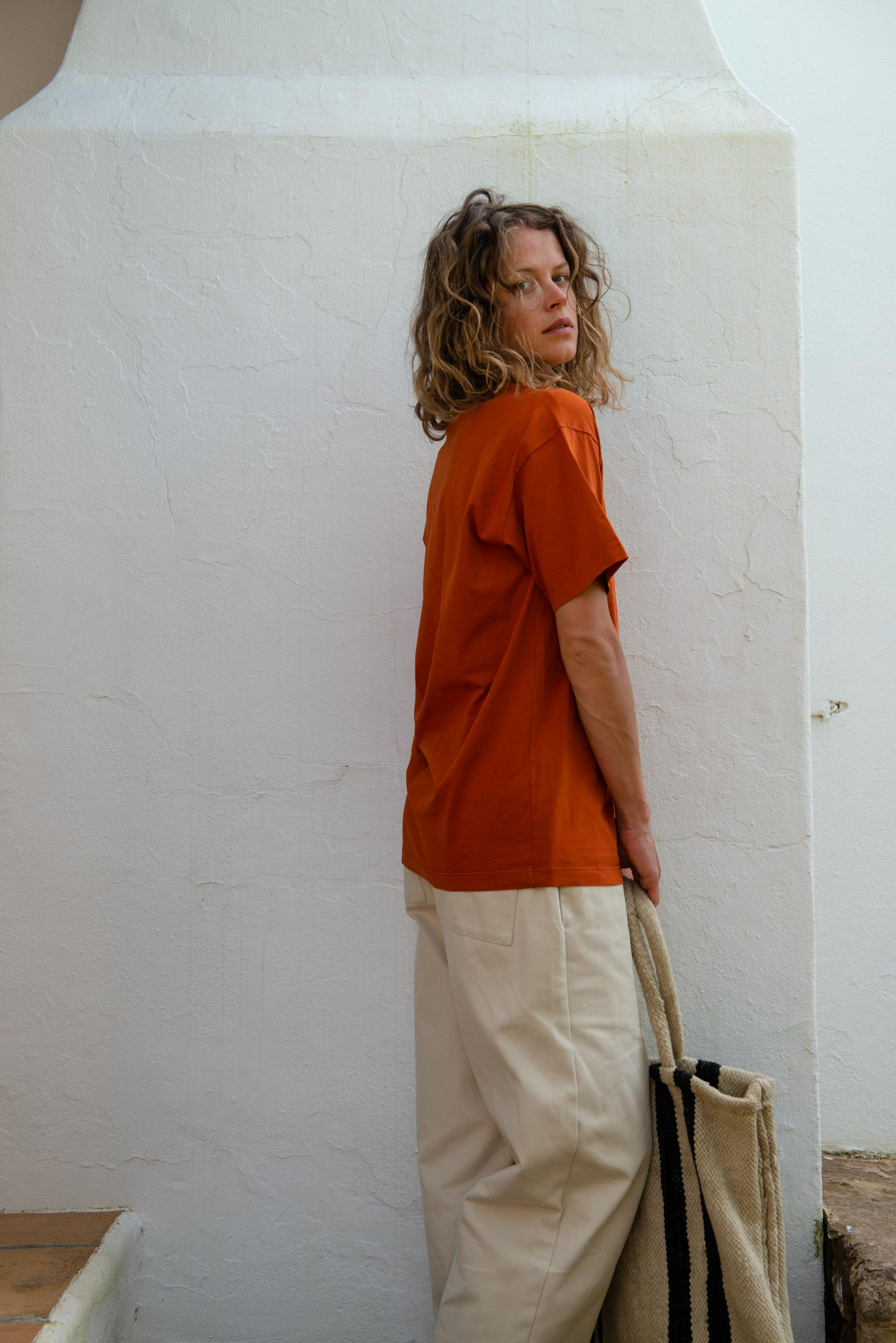 Unisex T-Shirt S/S in Potter's Clay
