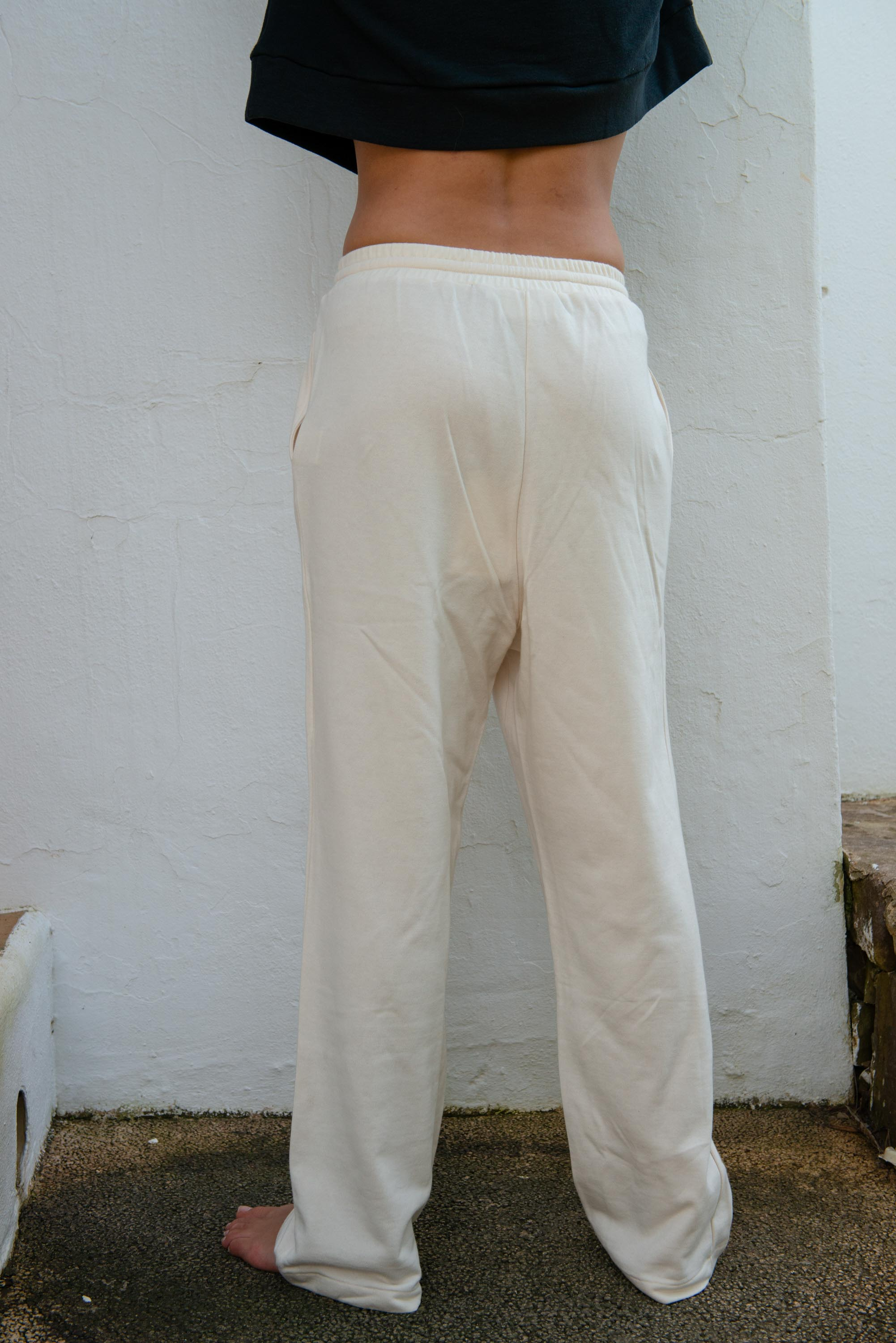Jogging Pants in Off White