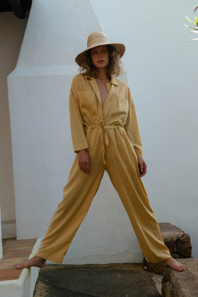 Emily Jumpsuit in Curry