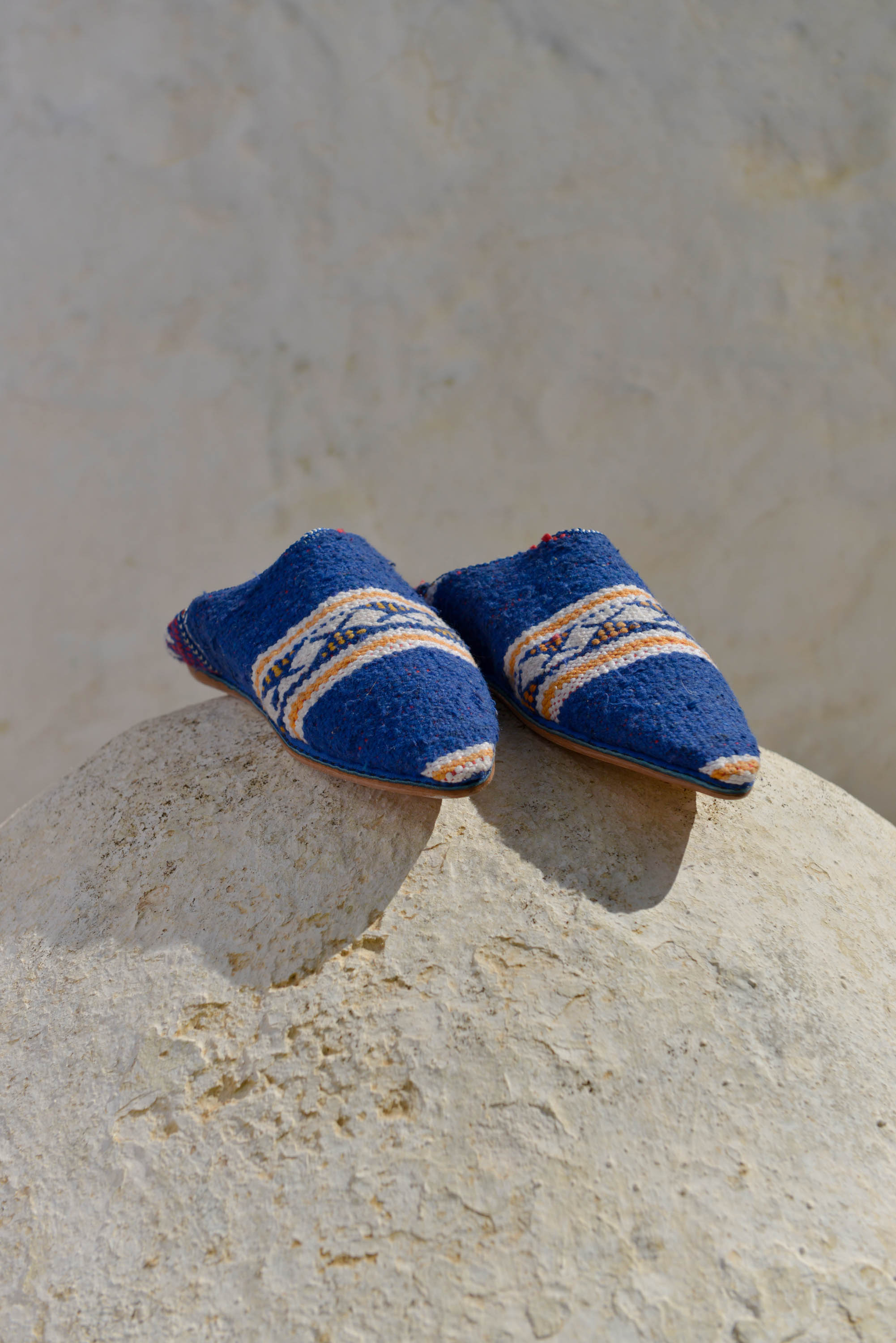 Habibi Slippers - Blue