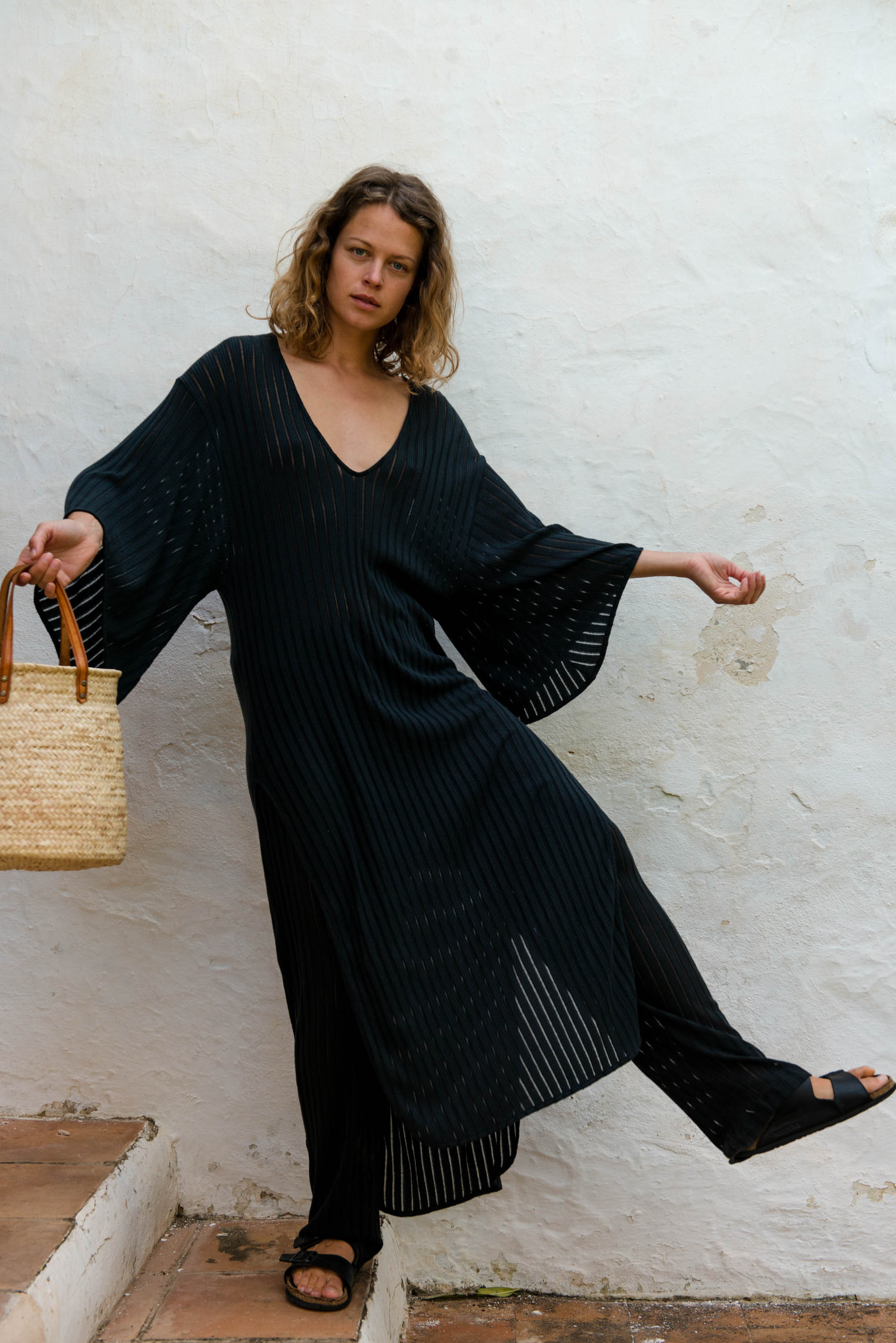 Kaftan Dress in Black
