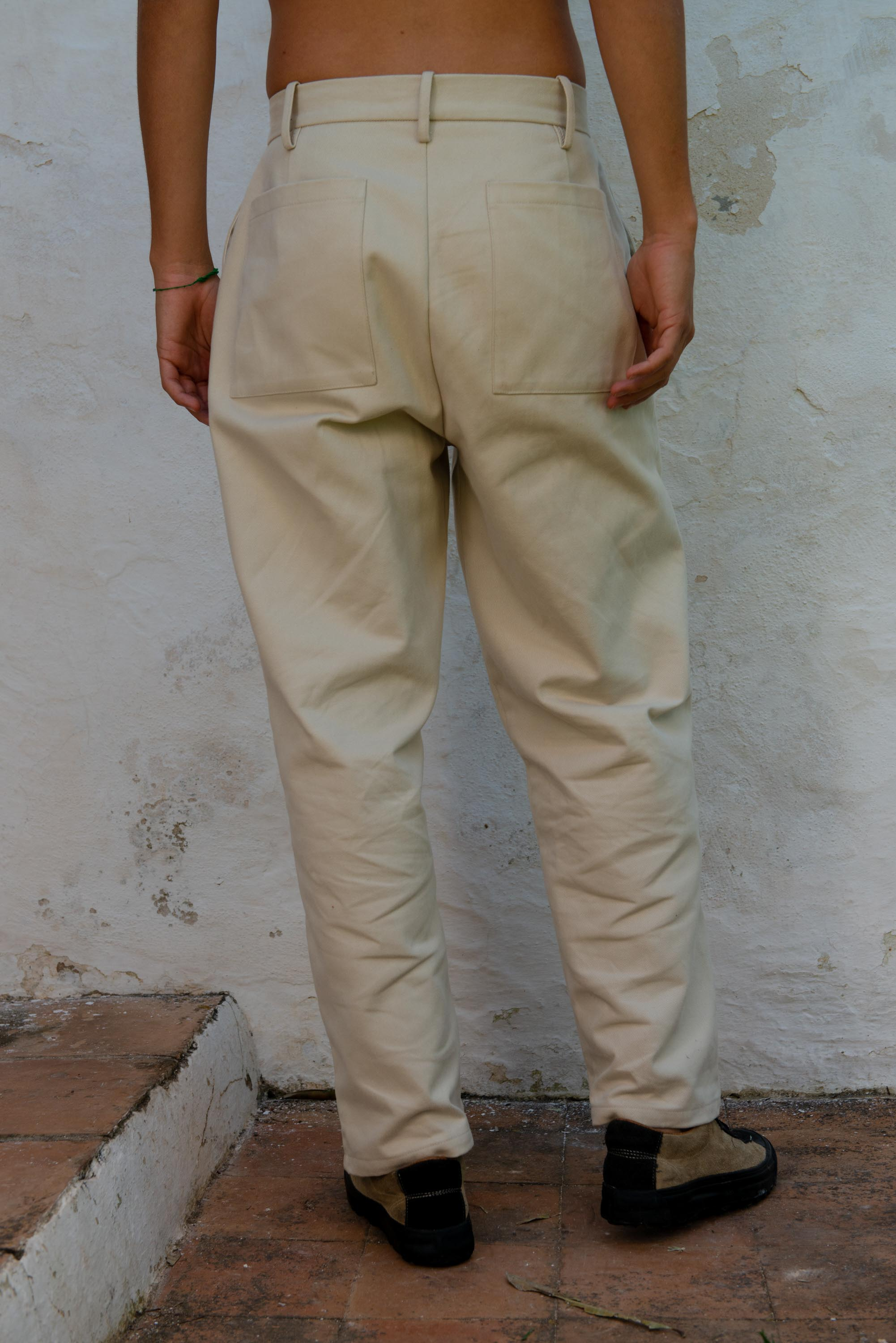 Miners Pants in Cream