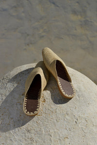 Habibi Bast Slippers - Natural