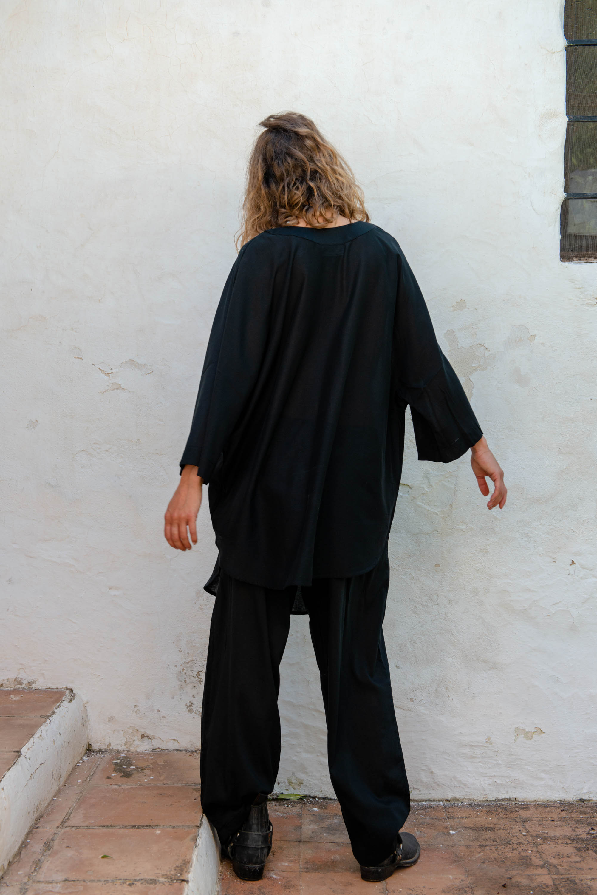 Djellaba Shirt in Black