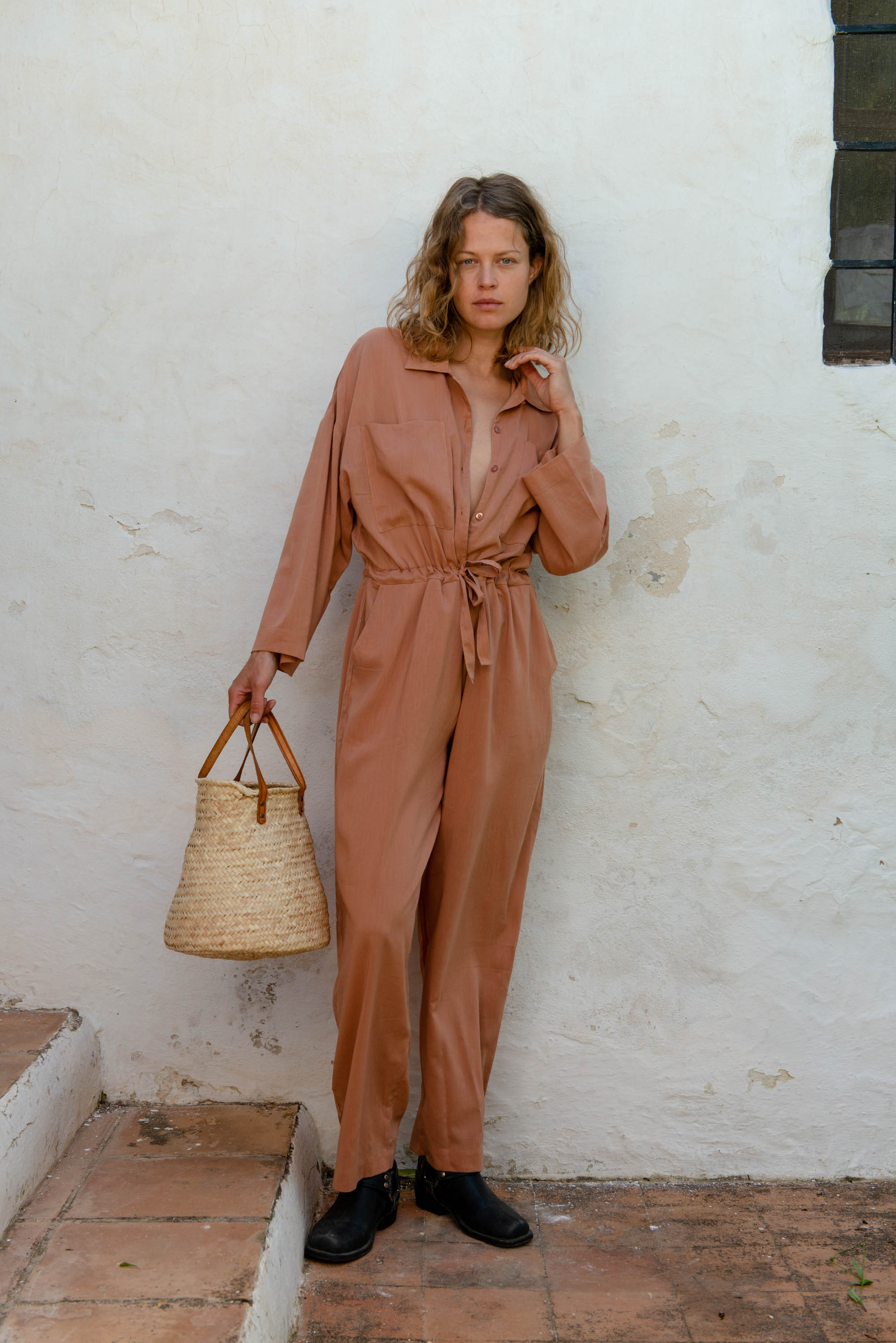 Emily Jumpsuit in Toasted Nut