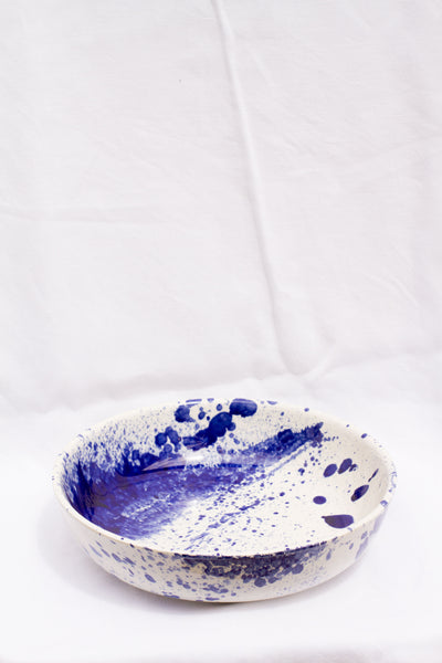 Large Colored Clay Bowl
