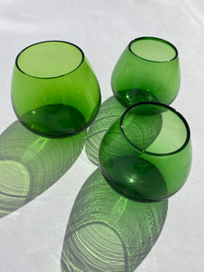 Set of small round glasses