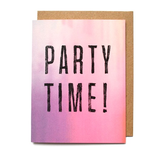 Daydream Prints - Party Time Card