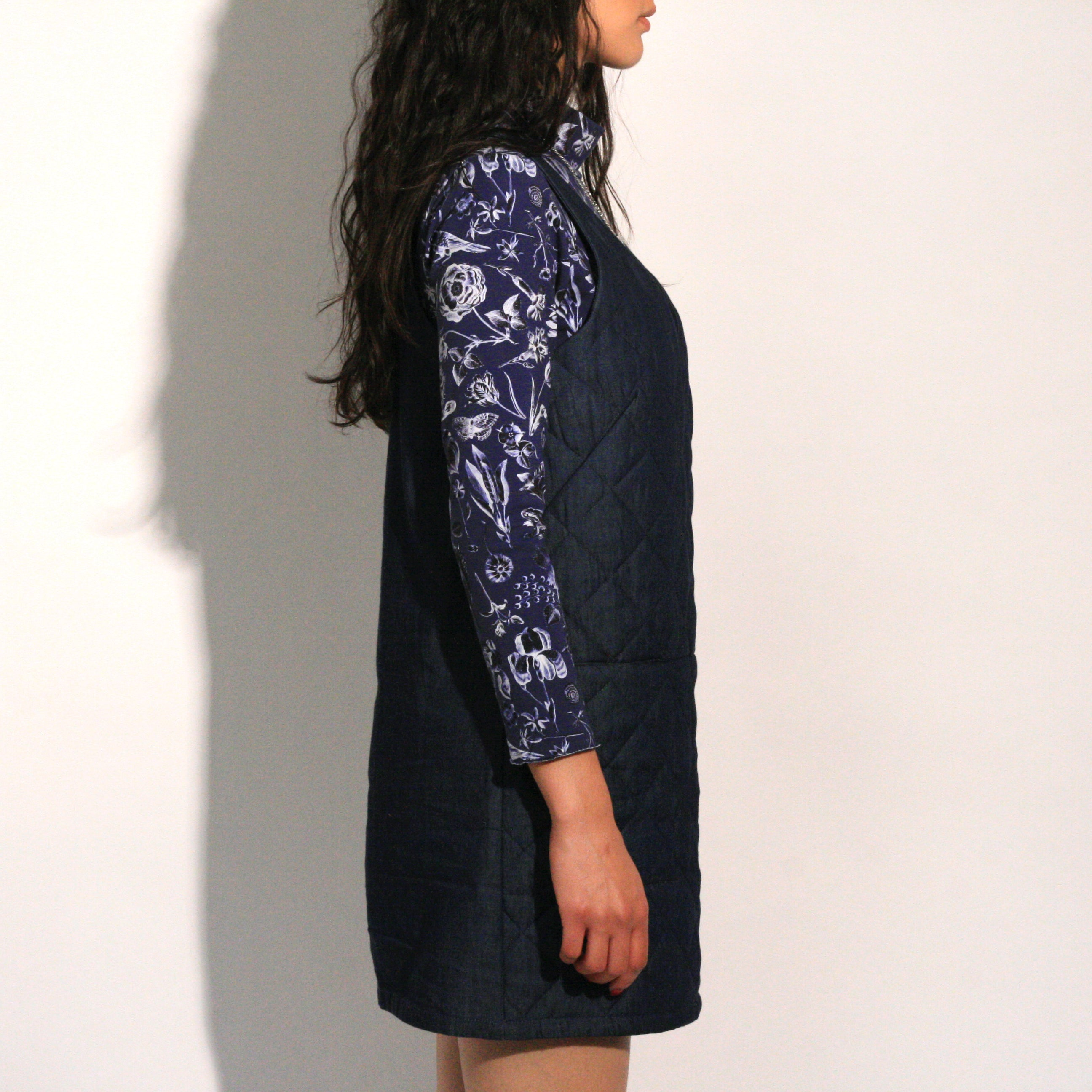 Eve Gravel  Love Story Quilted Denim Dress