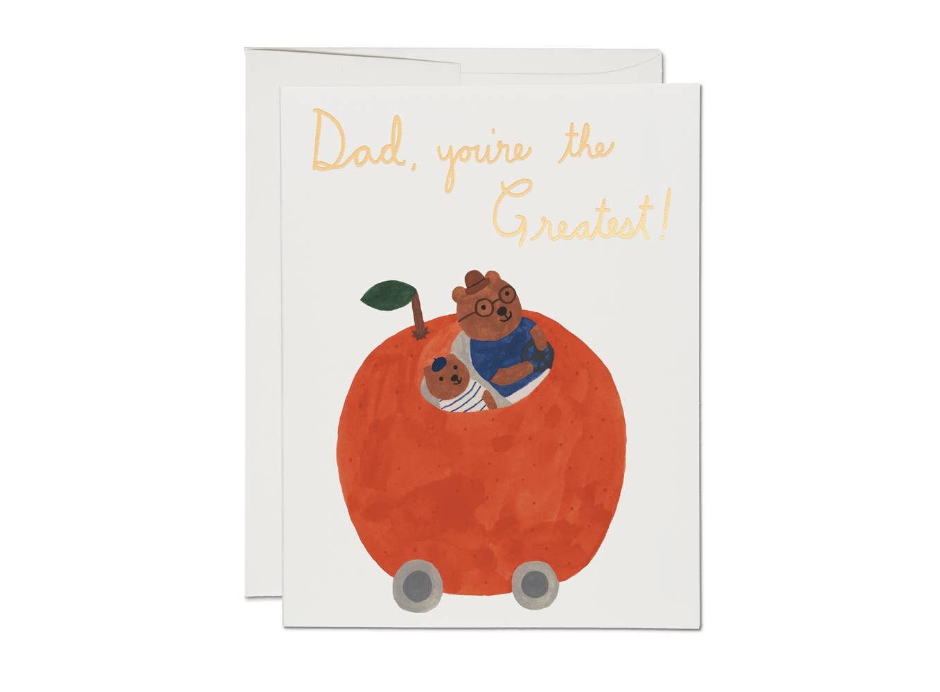 Red Cap Cards - Orange Car
