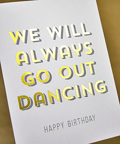 Greenwich Letterpress - Dancing Birthday Card